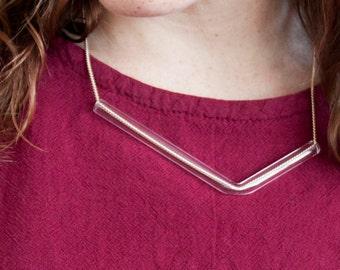 Minimal Glass Tube Necklace No. 1