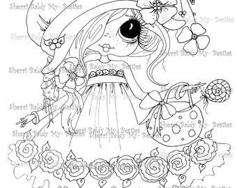 INSTANT DOWNLOAD digitale Digi Stamps Big Eye Big hoofd poppen Sweet Candy mijn Besties door Sherri Baldy