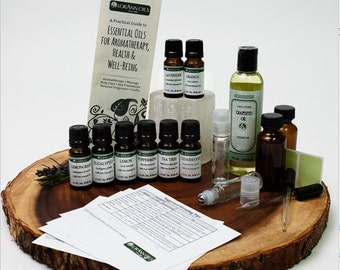Aromatherapy Oils Kit - Pure 100% Therapeutic Grade Starter Set - 8 oils included