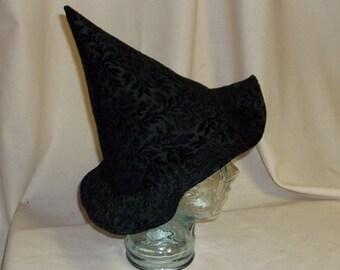 Black Brocade Witch Hat