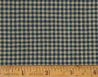 "Heritage Blue 2 Homespun Cotton Fabric (Full Yard 36"" x 44"")"