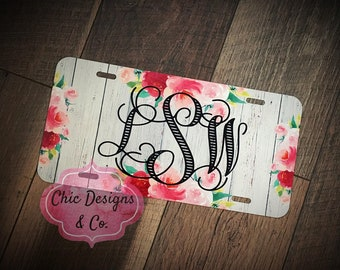 Personalized License Plates - Monogrammed License Plates - License Plates -  New Car gifts - Gifts for Her - Car Tag - Custom License Plate