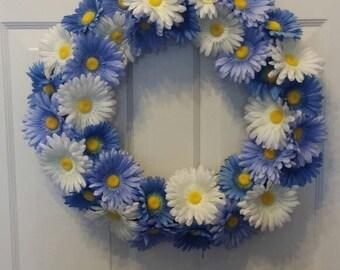 Daisy wreath / spring wreath / summer wreath / front door wreath / holiday wreath / door wreath / Easter wreath