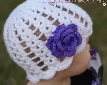 Spring Girl Hat Crochet Pattern for SPRING PROMISES BEANIE digital