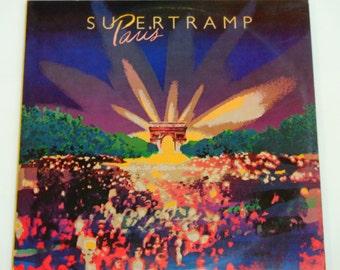 "Supertramp Paris - Live Album - Prog Rock - ""Take the Long Way Home "" - ""Bloody Well Right"" - A&M 1980 - Gatefold Vinyl 2LP Record Album"