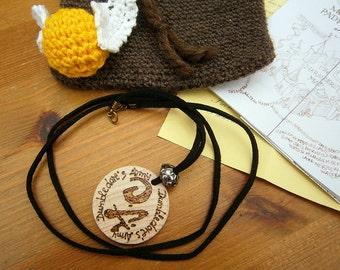 Mokeskin Tasche, Beutel, gehäkelt, braun, Karte des Rumtreibers, goldener Schnatz, handmade, geekery