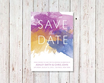 Water Color Invitations - Water Color Wedding Invitation - Watercolor Invite - Affordable Invitations - Customize Invites -Very Easy Process