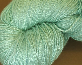 "Organic, vegan bamboo yarn ""Freshness 2"" hand dyed, crochet thread, weaving, green, lace weight, hand painted, 7.1 oz"