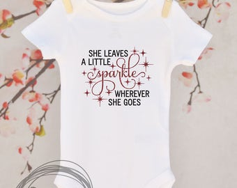 She Leaves A Little Sparkle // Baby Apparel, Toddler Shirts, Trendy Baby Clothes, Cute Baby Clothes, Baby and Toddler Clothes
