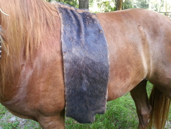 Faux Moose Fur Pelt For Equine Pretend American Indian Bed