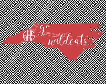 Davidson College notecards, Personalized folded note cards-  Davidson Thank You Notes,  Davidson College stationery, Davidson Wildcats