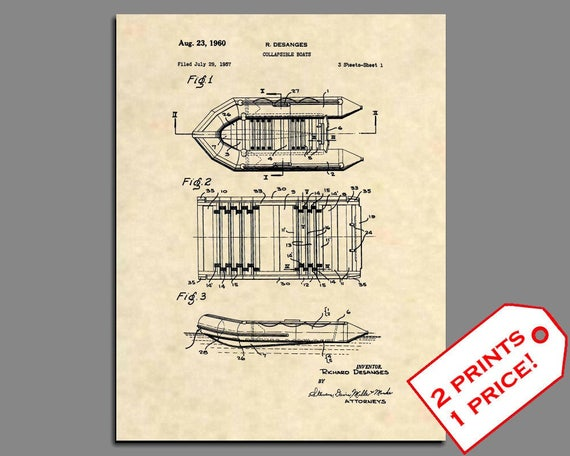 Patent prints zodiac boat inflatable raft boating wall art ccuart Images