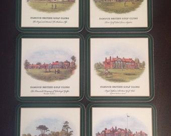 Pimpernel British Golf Clubs Coasters