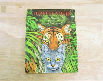 Vintage Children's Book Heart Of A Tiger by Marsha Diane Arnold Cat Story Cat Book Kitten Book Tiger Book Kitten Story Courage Book