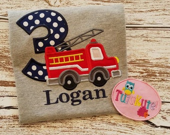 Firetruck Birthday Shirt