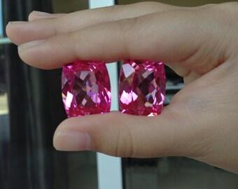 One pairs pink topaz fancy cut 20x17mm
