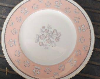 Wedgwood Bone China Pimpernel Pink Large Dinner Plate