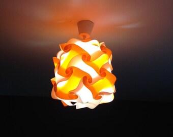 Light orange and white lamp Lantern puzzle