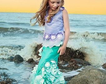 Emilia the Emerald of the Ocean ~Mermaid Costume, Dress Up, Portraits, Birthday, Halloween, Pageant