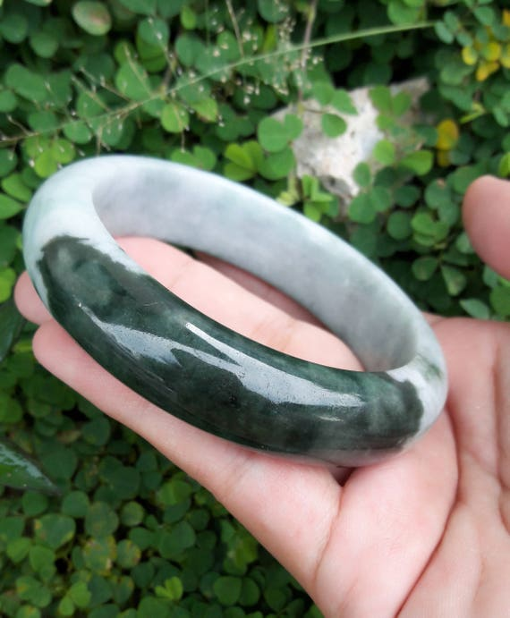 jade bracelet green a grade darklight jadeite il dark certificate light listing with bangle