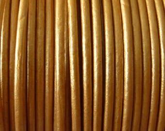 leather cord 2 mm beige metalic PR0850 100 m