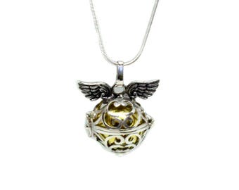 Harmony Ball, Angel Wings Sterling Silver Harmony Ball, Sterling Silver Angel Caller, Harmony Bola, Angel Caller, Bola Necklace Bola Ball