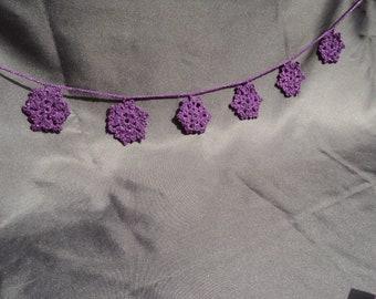 crocheted garland