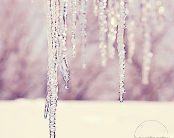melting icicles-winter photography-winter-melting ice-dripping-winter - Original fine art photography prints - FREE Shipping