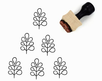 Modern Minimal Branch Rubber Stamp | Hand Drawn Pattern Stamp
