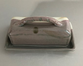 Covered Butter Dish with Handle