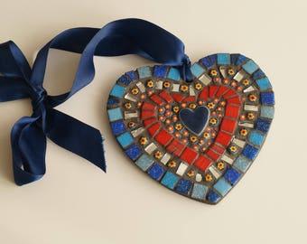 Blue Heart Mosaic