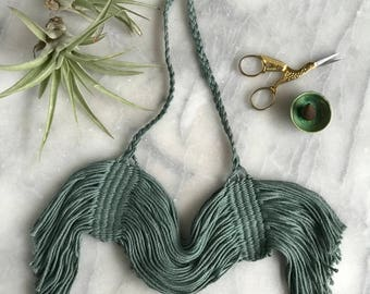 Neoma Necklace//Fiber Jewelry//Woven