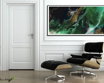Resin art, Snake abstract painting, MODERN Painting, Acrylic Painting GICLEE Art Print, Abstract Resin art, Extra Large Wall Art by RASKO