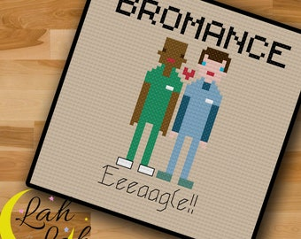Scrubs -  TV Show - Bromance - Eagle - Counted Cross Stitch Pattern - Digital PDF
