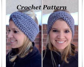 Crochet pattern crossover headband crochet winter headband crochet pattern crossover headband crochet winter headband pattern headwrap pattern women headband dt1010fo