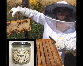 Creamed Raw Honey *Clover and Wildflower Honey* Honey Bee Emporium