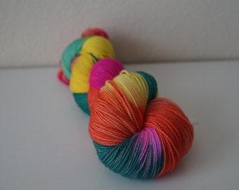 Aloha on Sparkle Sock - Hand Dyed Yarn