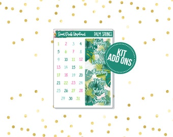 Palm Springs // Kit ADD ONS-Stickers for the EC Happy Planner Life planner