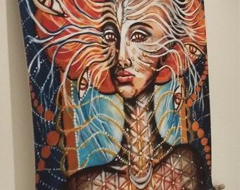 Hybryd-wall-hanging fabric ,spirituality