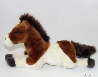 Brown/White Pony Stuffed Animal Plush Toy