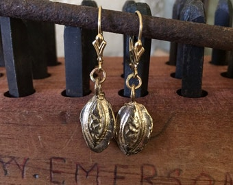 14k Ancient relic earrings -Seed