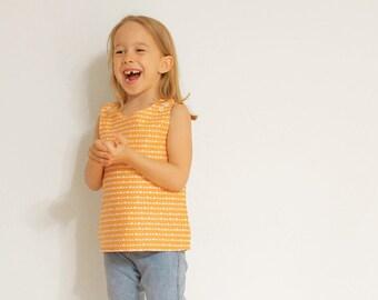 Reversible sailor SHIRT pattern - girls top pattern - 2 year to 8 years