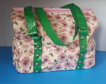 Duct Tape Floral Pattern Satchel Bag