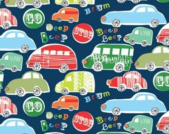 Dashwood Studio Car PrintCotton Fabric, Quilting Fabric and Patchwork Fabric, 100% Cotton Fabric