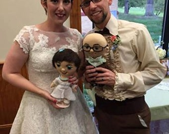 Unique Custom doll bride and groom -  Selfie doll,  character doll, rag doll, art doll, personalized doll, wedding dolls