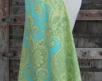 Beautiful Nursing Cover-Green/Turq Swirl-FREE SHIPPING When Purchased With A Wrap