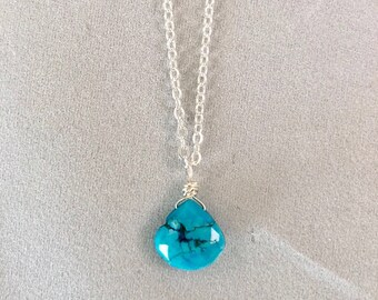 "Turquoise ""Deep Soul"" Necklace"