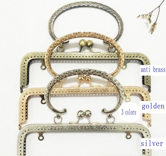 8 inch(20.5cm)clutch frame sewing metal purse frame with handle ...