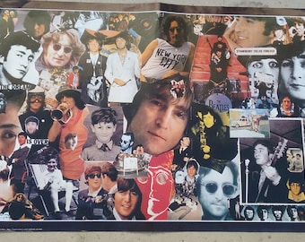 rare Vintage Poster John Lennon by Graphic Memories Made in Italy, 1980s