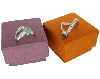 Timijitchin, Sterling Silver Solitaire Ring